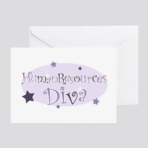 """Human Resources Diva"" [purpl Greeting Cards (Pack"